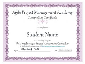 Agile Project Management Certificate